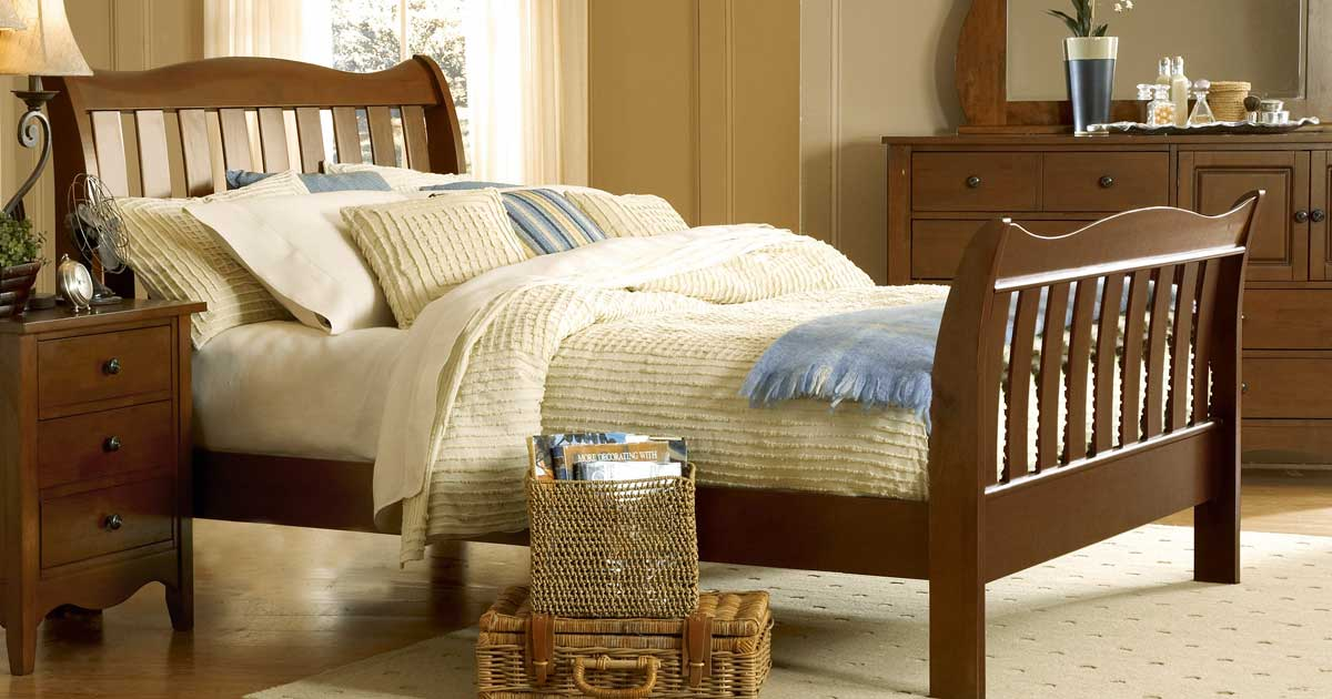 Homelegance Brookwood Bed Cherry Finish