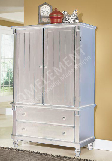 Homelegance Pottery Armoire White