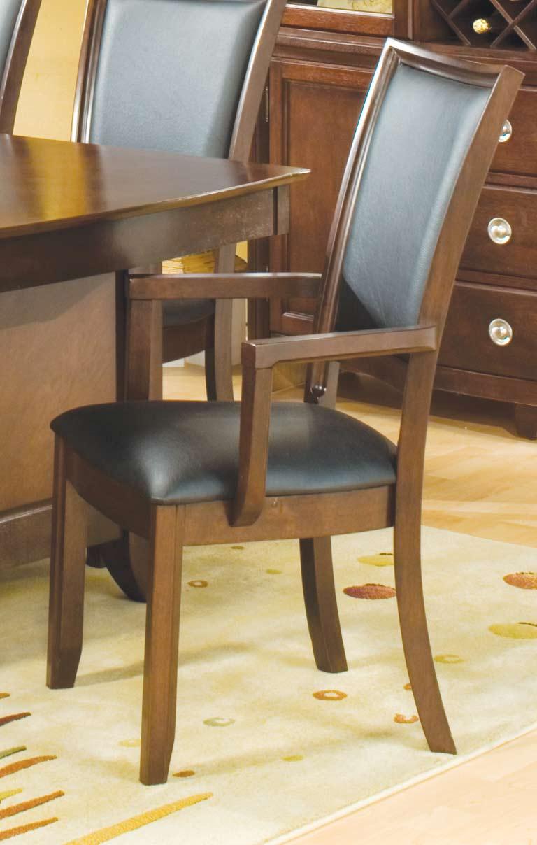 Homelegance Capria Arm Chair Black Leatherette