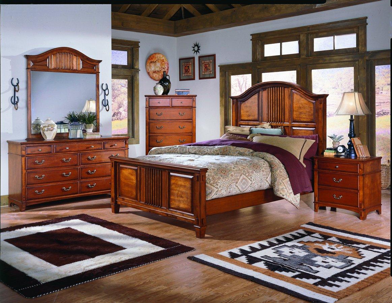 pc bedroom set bed 2 nightstands dresser and mirror ae ibeza set 2