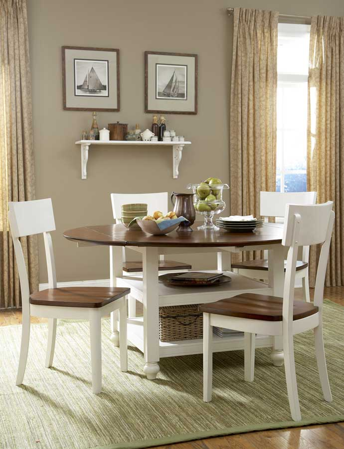 Homelegance hanna dining table white 889 60 at for Table hanna