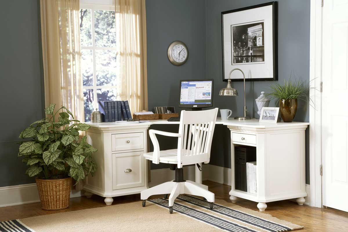 Homelegance Hanna Corner Desk White 8891W-CDesk at ...