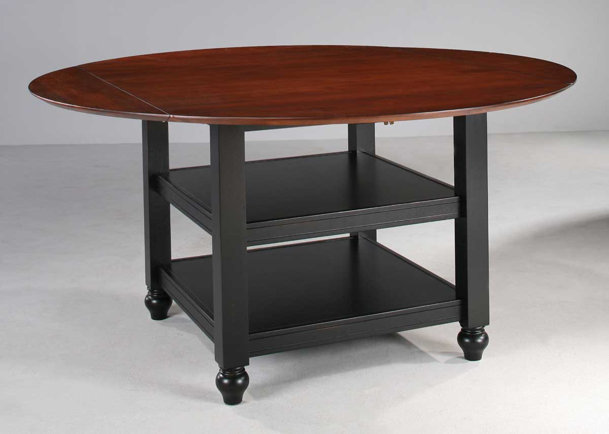 Homelegance hanna dining table black 889bk 60 at for Table hanna