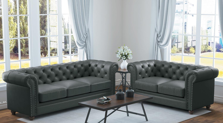 Homelegance Wallstone Sofa Set - Gray