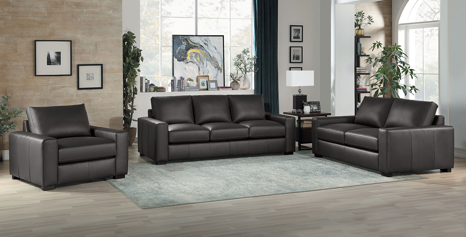 Homelegance Escolar Sofa Set - Brown