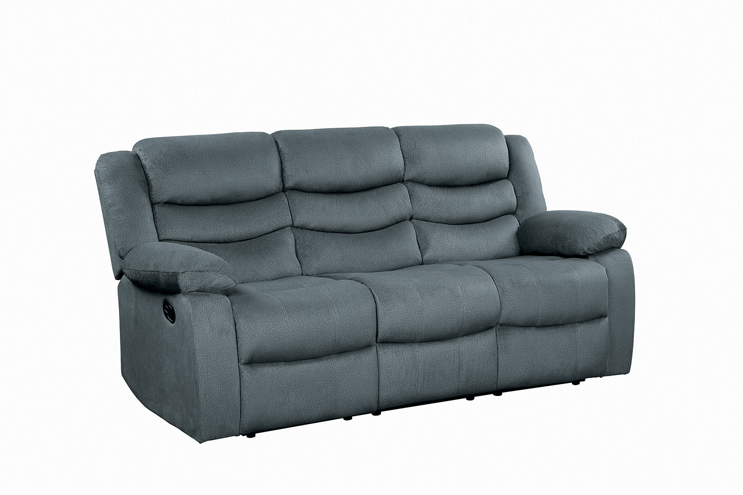 Homelegance Discus Double Reclining Sofa - Gray