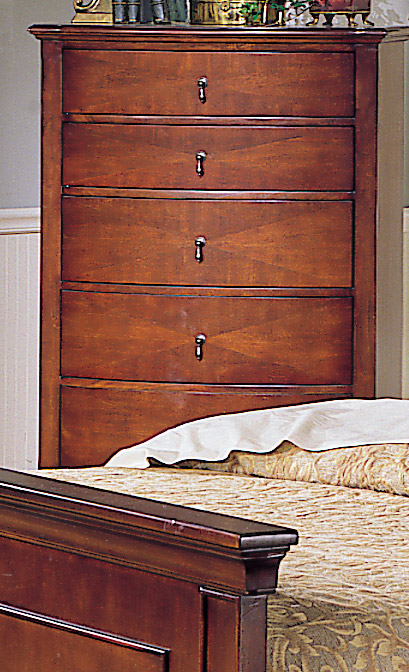 Homelegance Avalon 5 Drawer Chest with Bow Front