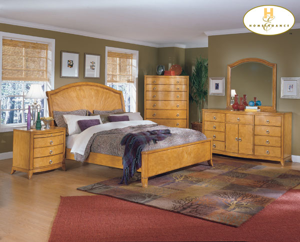 Homelegance Maltese Sleigh Bed With Low Profile Footboard 958 1 At