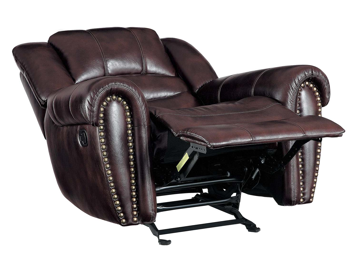 Homelegance Center Hill Glider Reclining Chair - Dark Brown