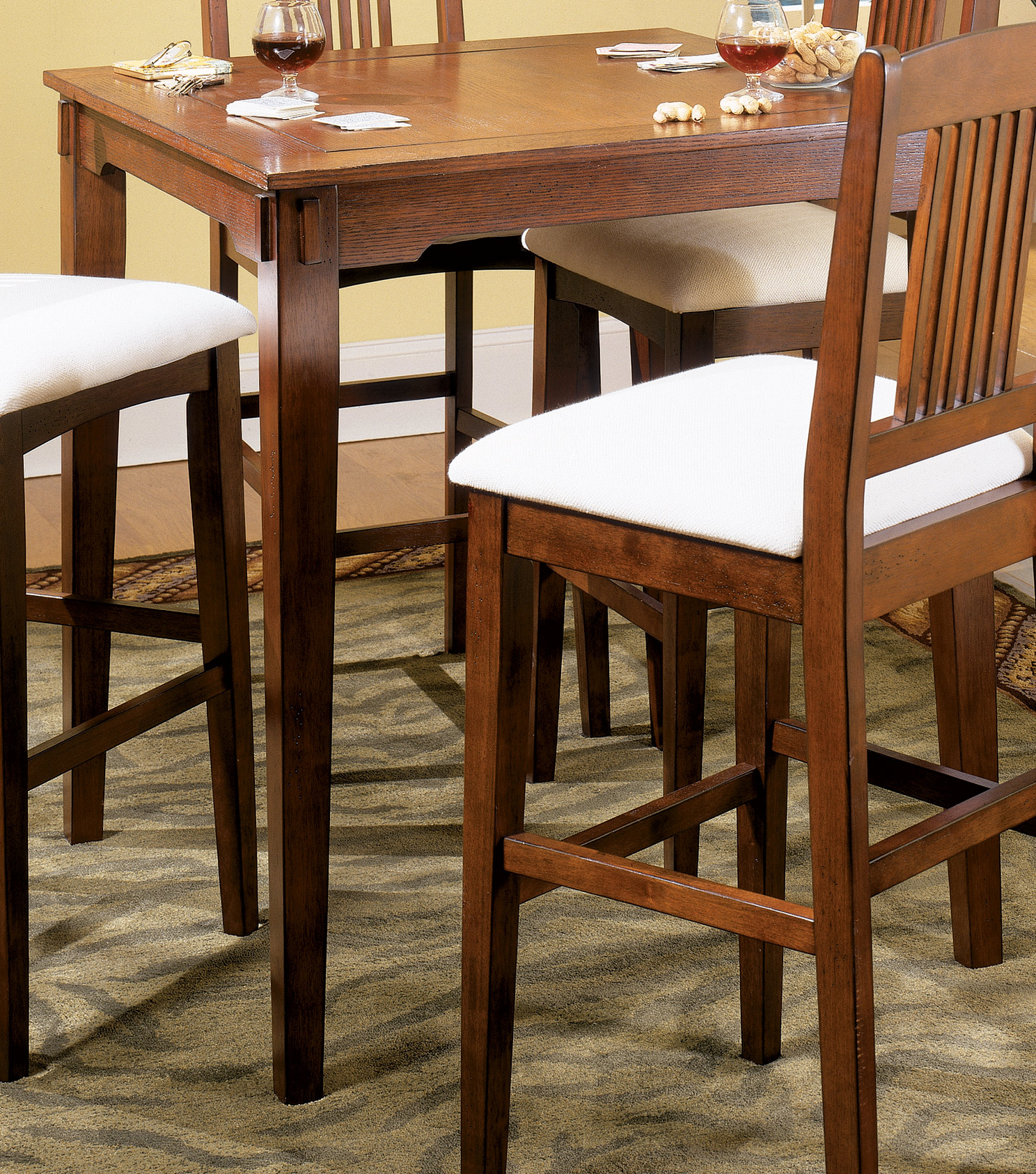 Homelegance Santee Pub Game Table Mission Oak