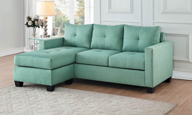 Homelegance Phelps Reversible Sofa Chaise - Teal