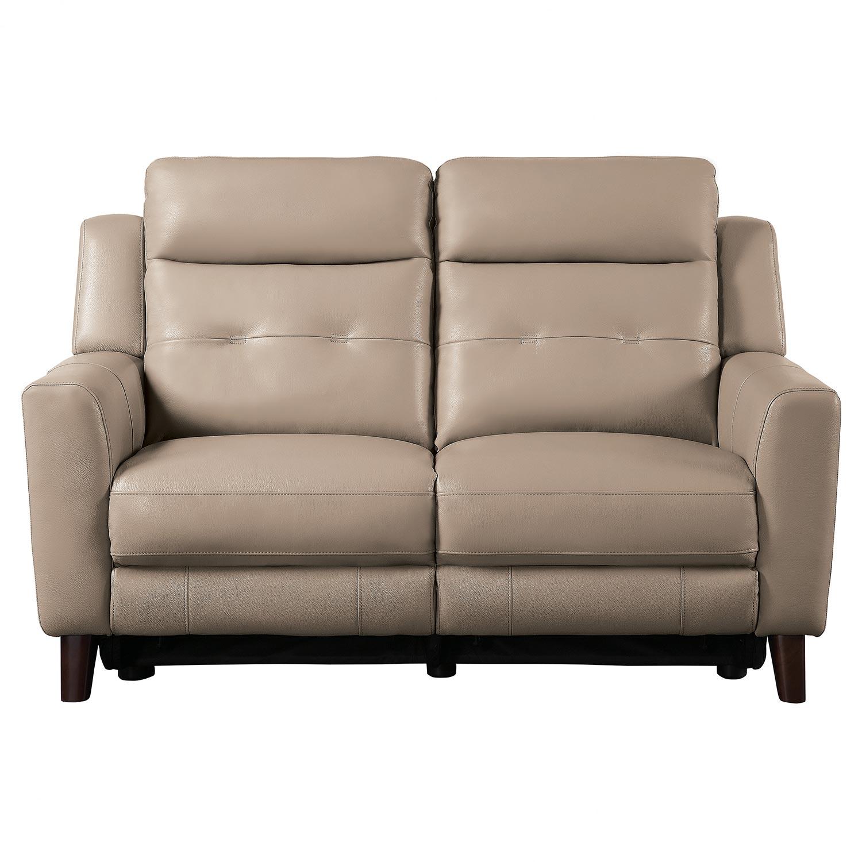 Homelegance Wystan Power Double Reclining Love Seat - Beige