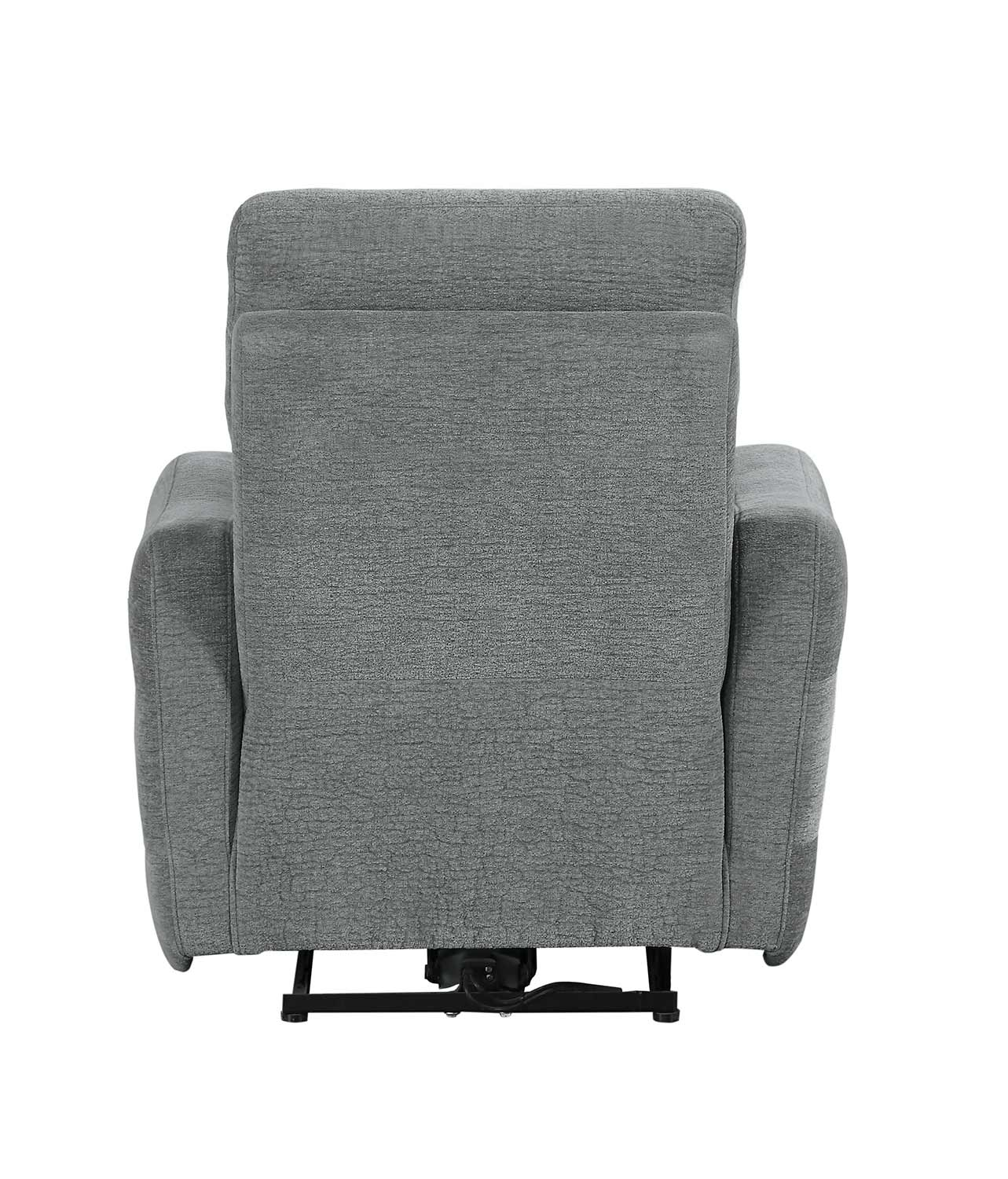 Homelegance Edition Power Lay Flat Reclining Chair with Power Headrest - Dove