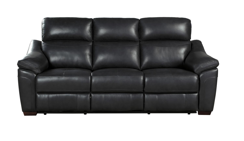 Homelegance Renzo Power Double Reclining Sofa - Dark Gray