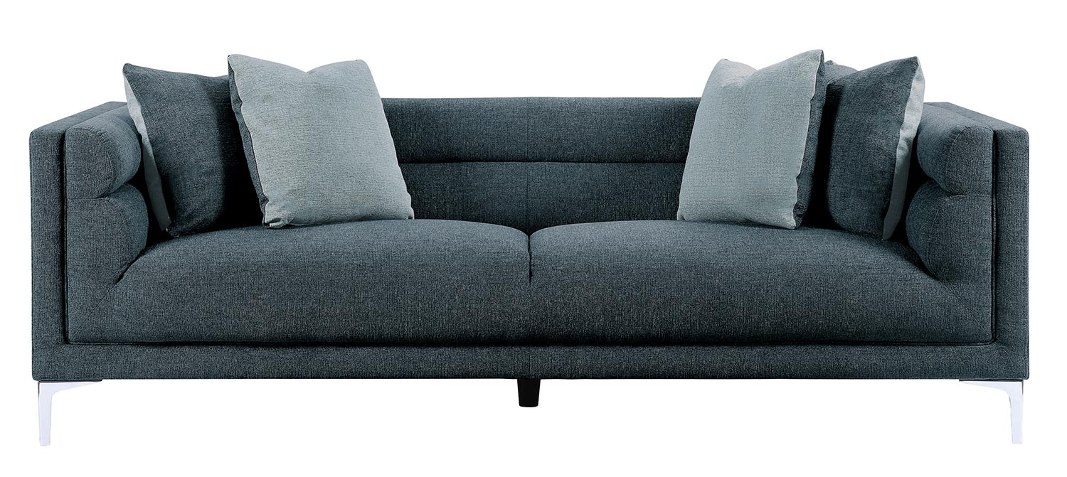 Homelegance Vernice Sofa - Dark blue gray