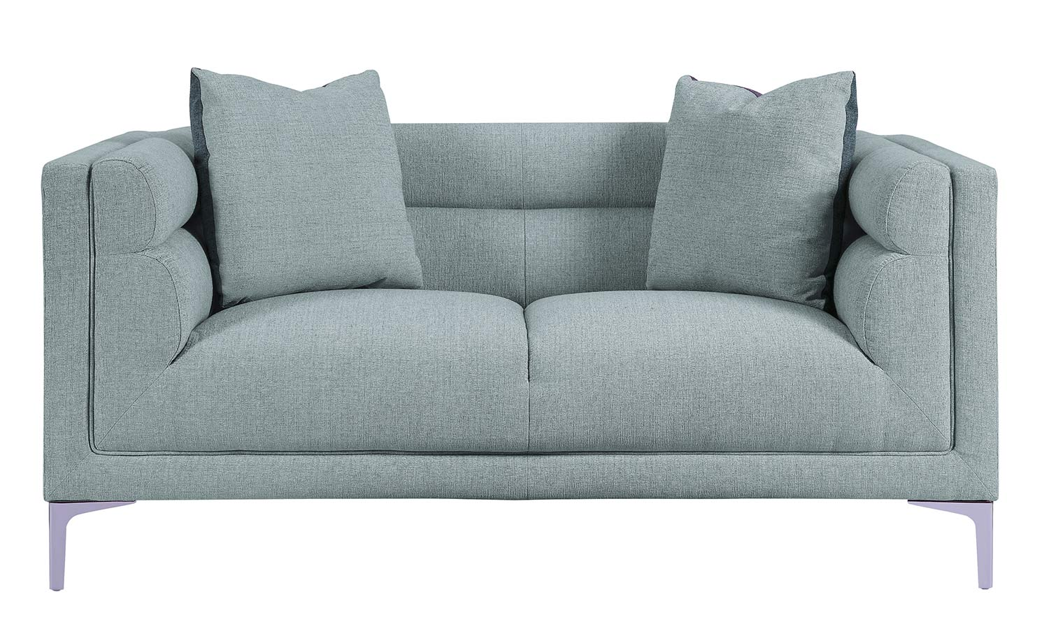 Homelegance Vernice Love Seat - Light fog gray