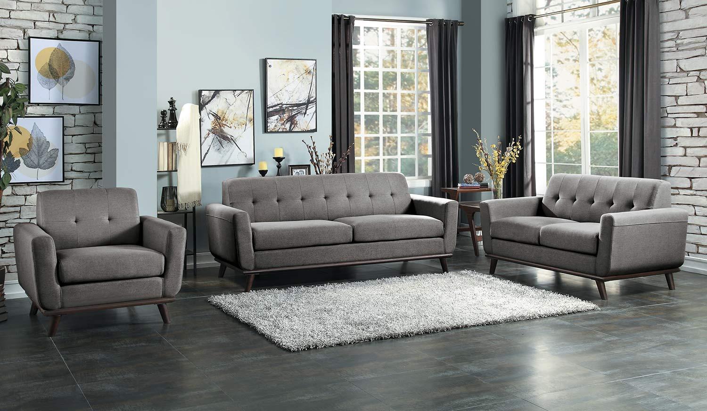 Homelegance Rittman Sofa Set - Gray