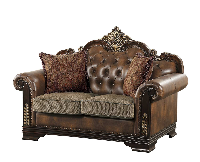 Homelegance Croydon Love Seat - Brown