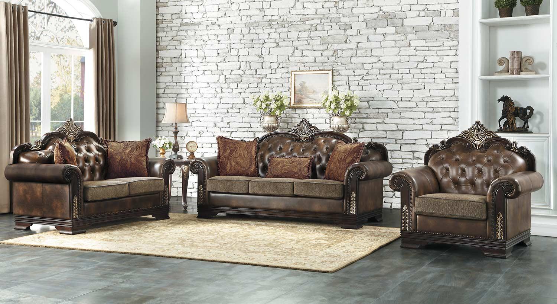 Homelegance Croydon Sofa Set - Brown