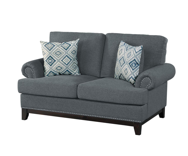 Homelegance Beacon Love Seat - Gray