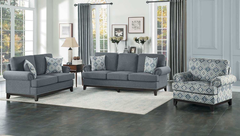 Homelegance Beacon Sofa Set - Gray