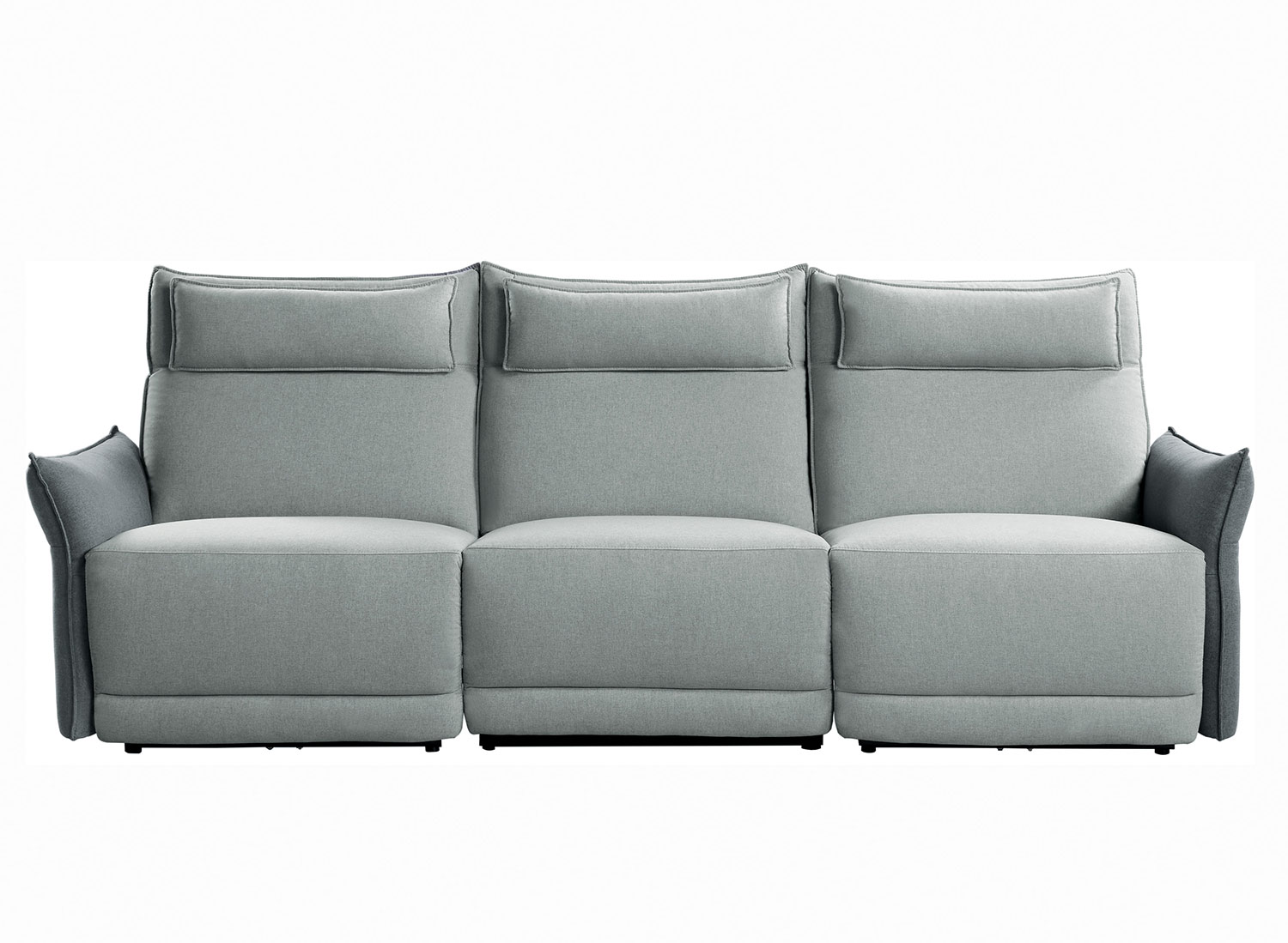 Homelegance Linette Power Double Reclining Sofa with Power Headrests - Gray