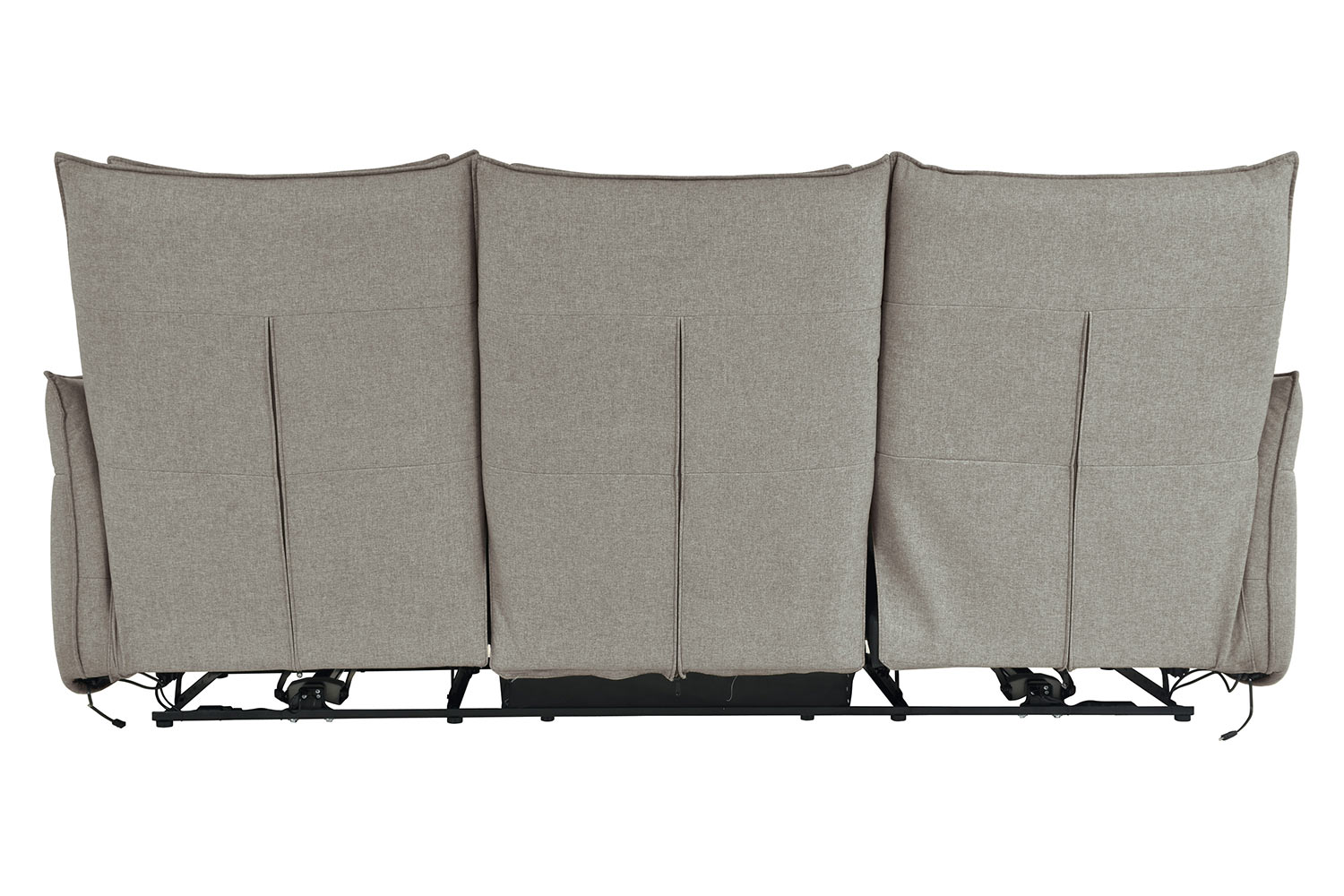 Homelegance Linette Power Double Reclining Sofa with Power Headrests - Taupe
