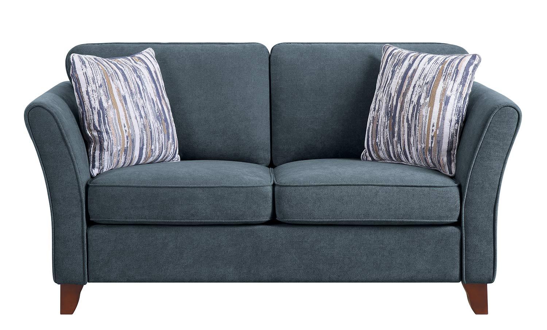 Homelegance Barberton Love Seat - Dark gray