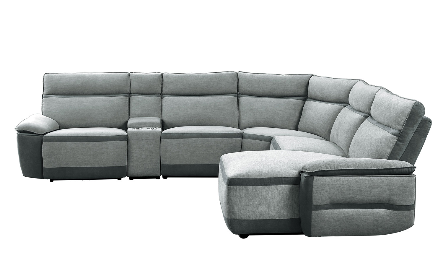 Homelegance Hedera Power Reclining Sectional Sofa Set - Gray