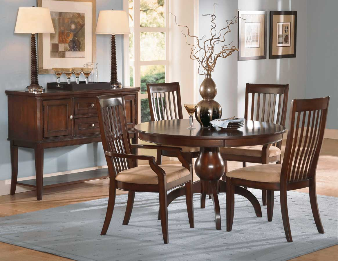 homelegance laurel height round dining table cherry 982c 54 at. Black Bedroom Furniture Sets. Home Design Ideas