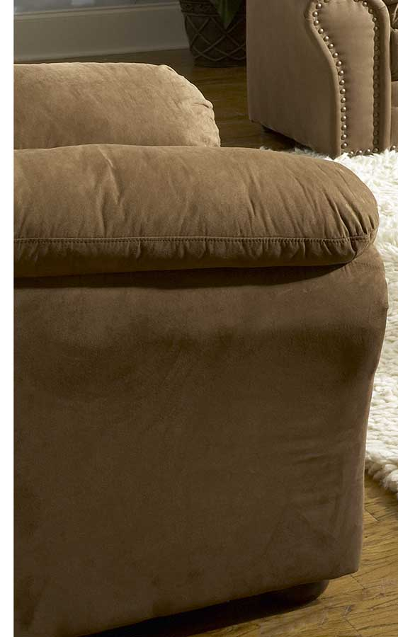 Sabrosa Chair in Brown Microfiber-Homelegance