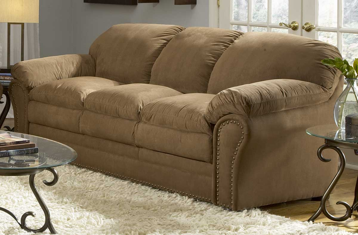 Homelegance sabrosa sofa in brown microfiber 9841br 3 at for Microsuede living room furniture