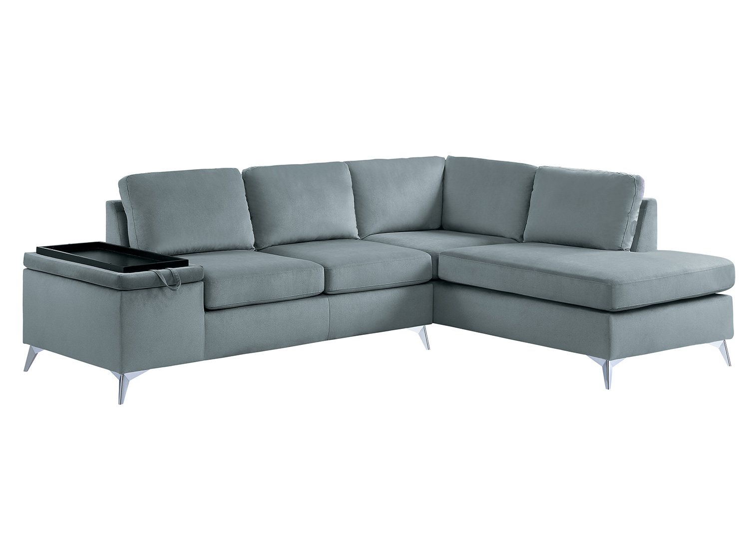 Homelegance Radnor Sectional Sofa Set - Gray