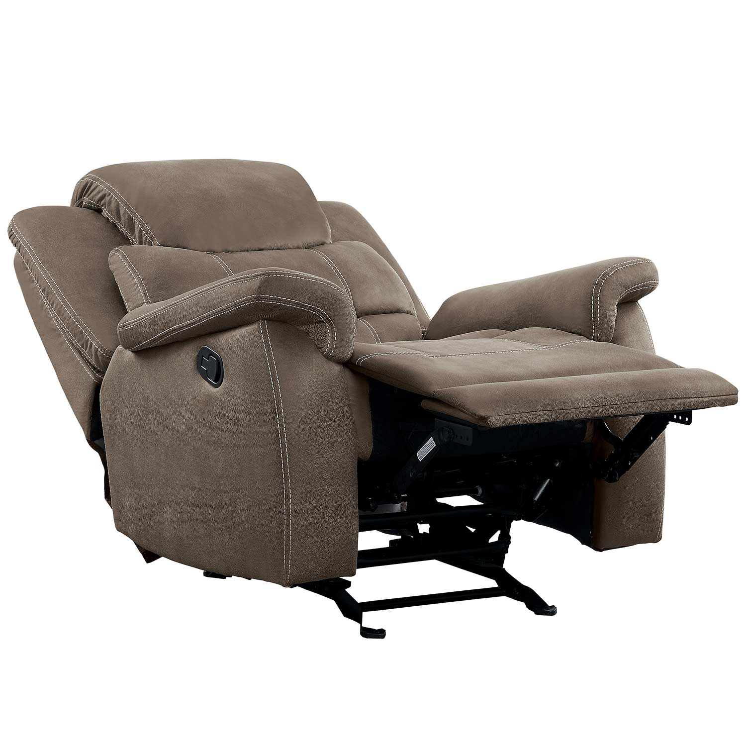 Homelegance Shola Glider Reclining Chair - Brown