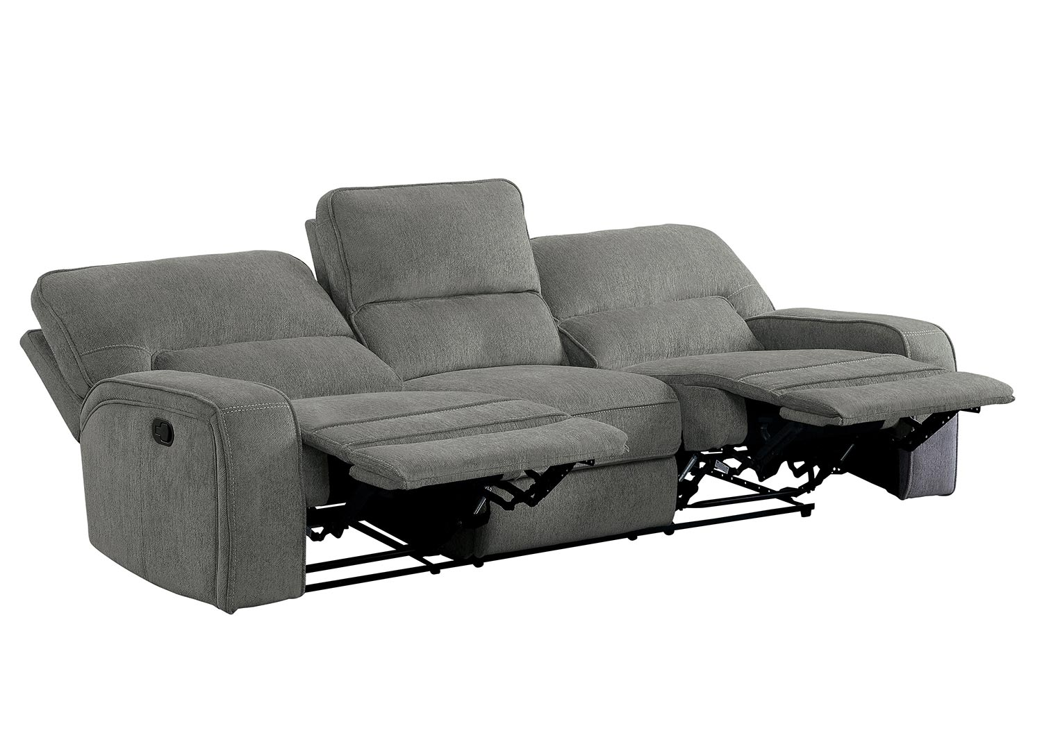 Homelegance Borneo Power Double Reclining Sofa with Power Headrest - Mocha