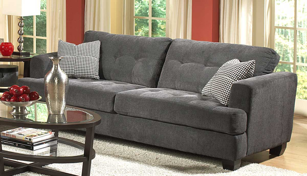 Best reviews homelegance maya chenille sofa in grey for Gray sofas for sale