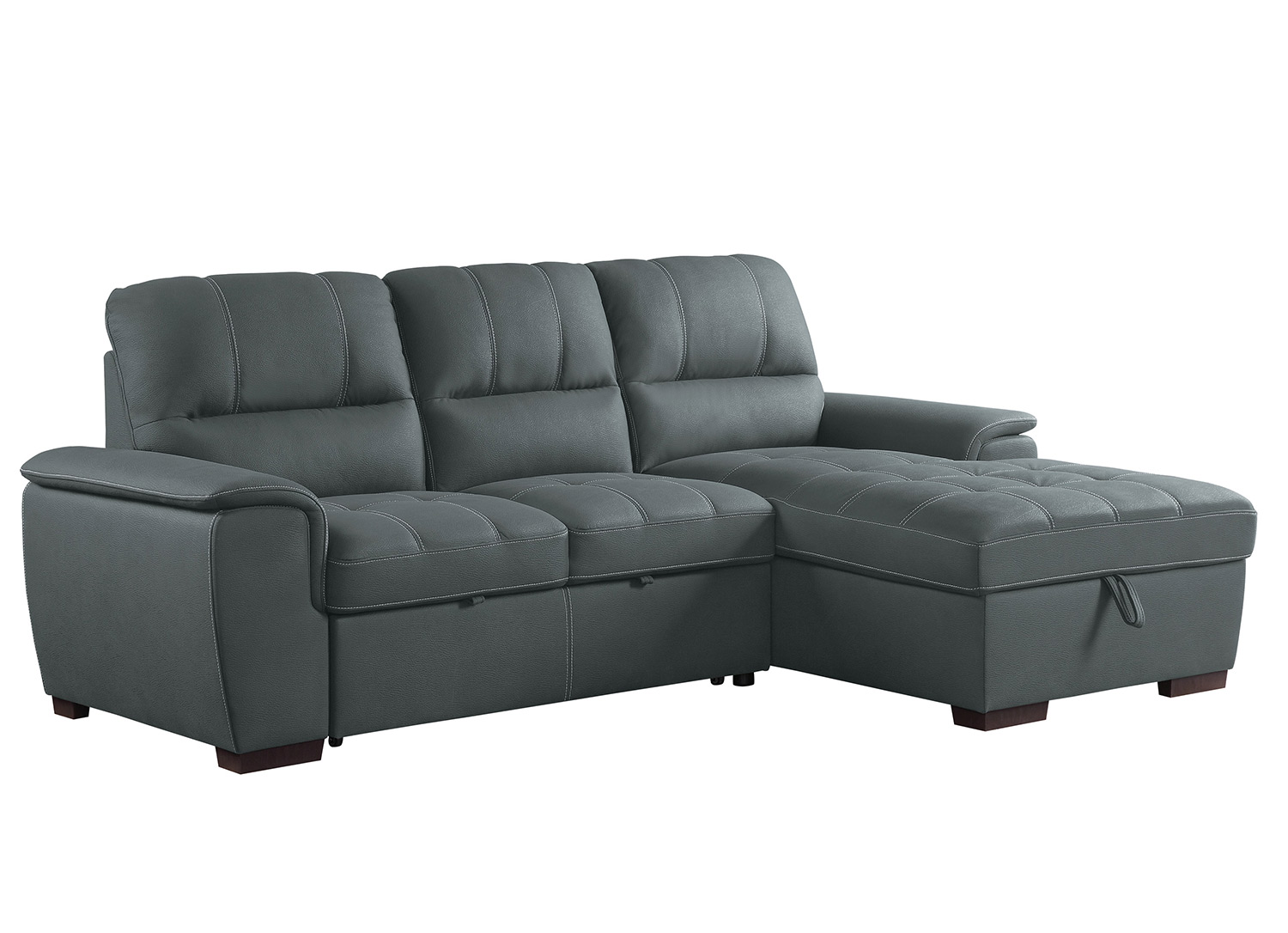 Homelegance Andes Sectional with Pull-out Bed and Hidden Storage - Gray