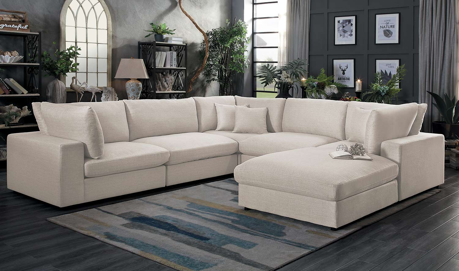 Homelegance Casoria Sectional Sofa Set - Neutral