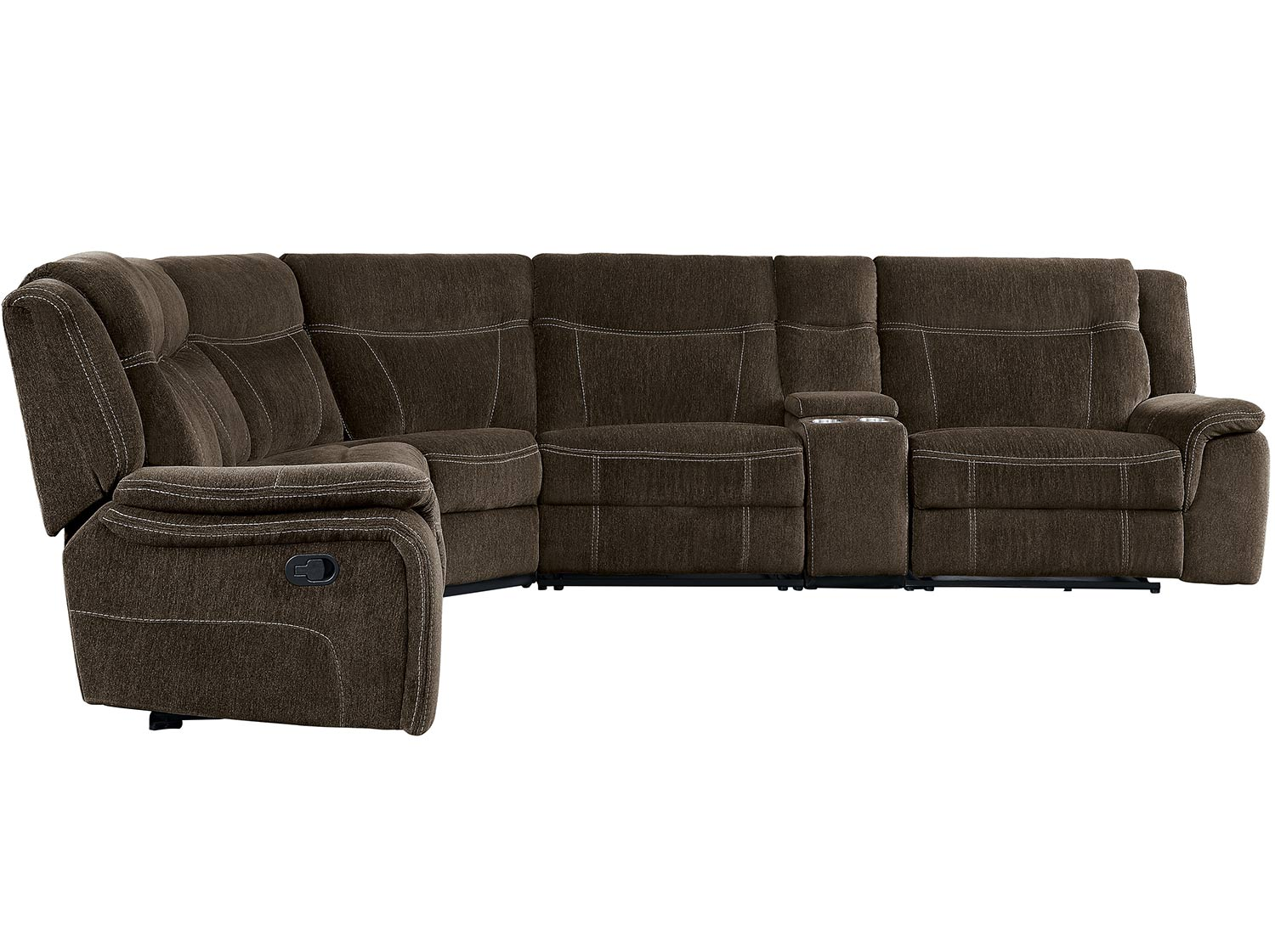 Homelegance Annabelle Reclining Sectional Sofa Set - Brown