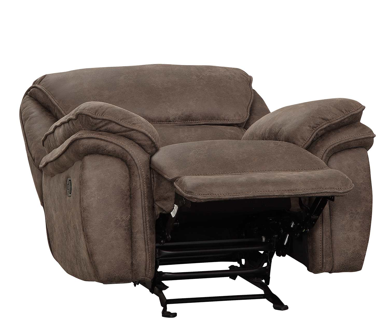 Homelegance Hadden Glider Reclining Chair - Dark Brown