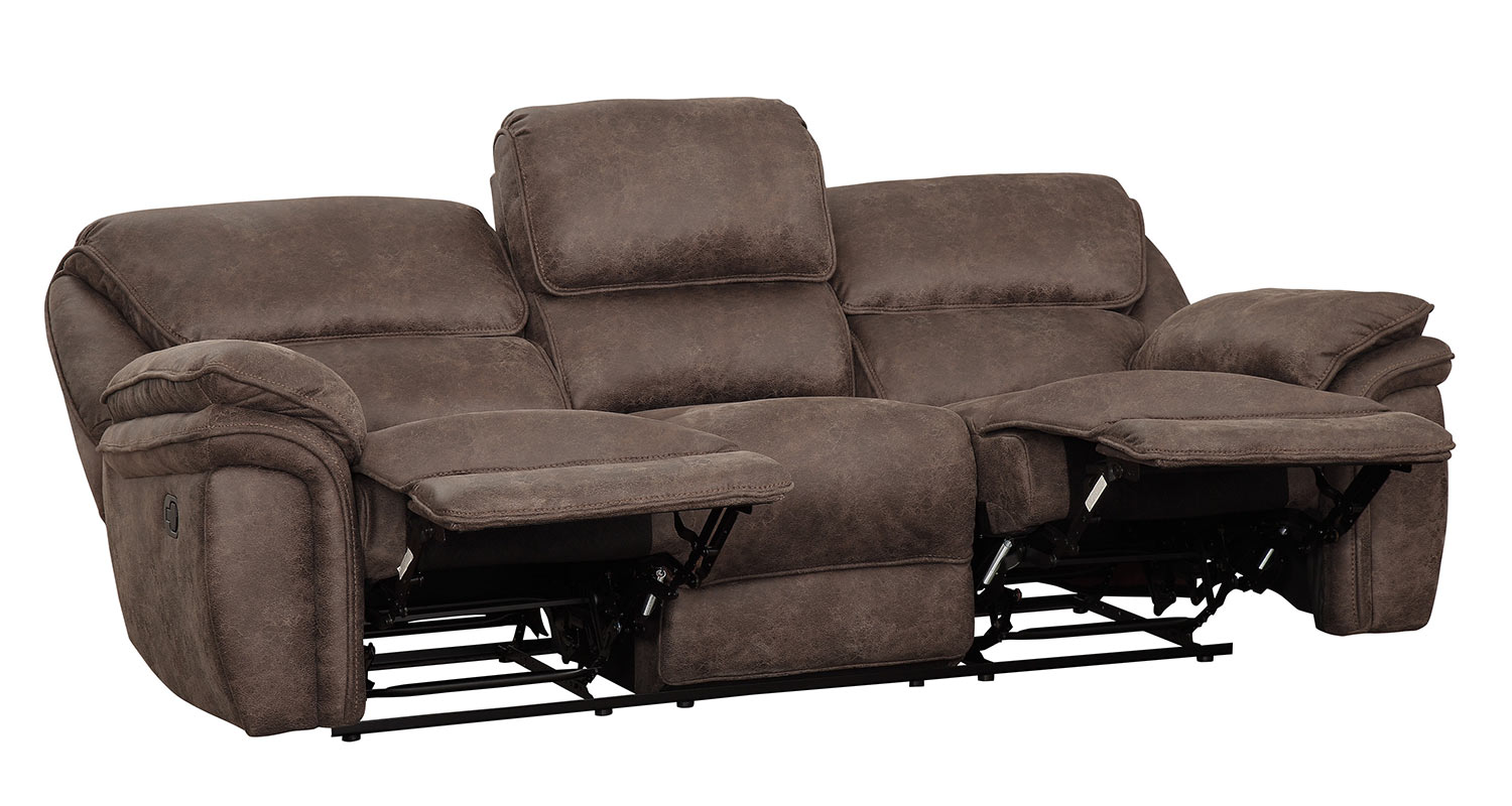 Homelegance Hadden Power Double Reclining Sofa - Dark Brown