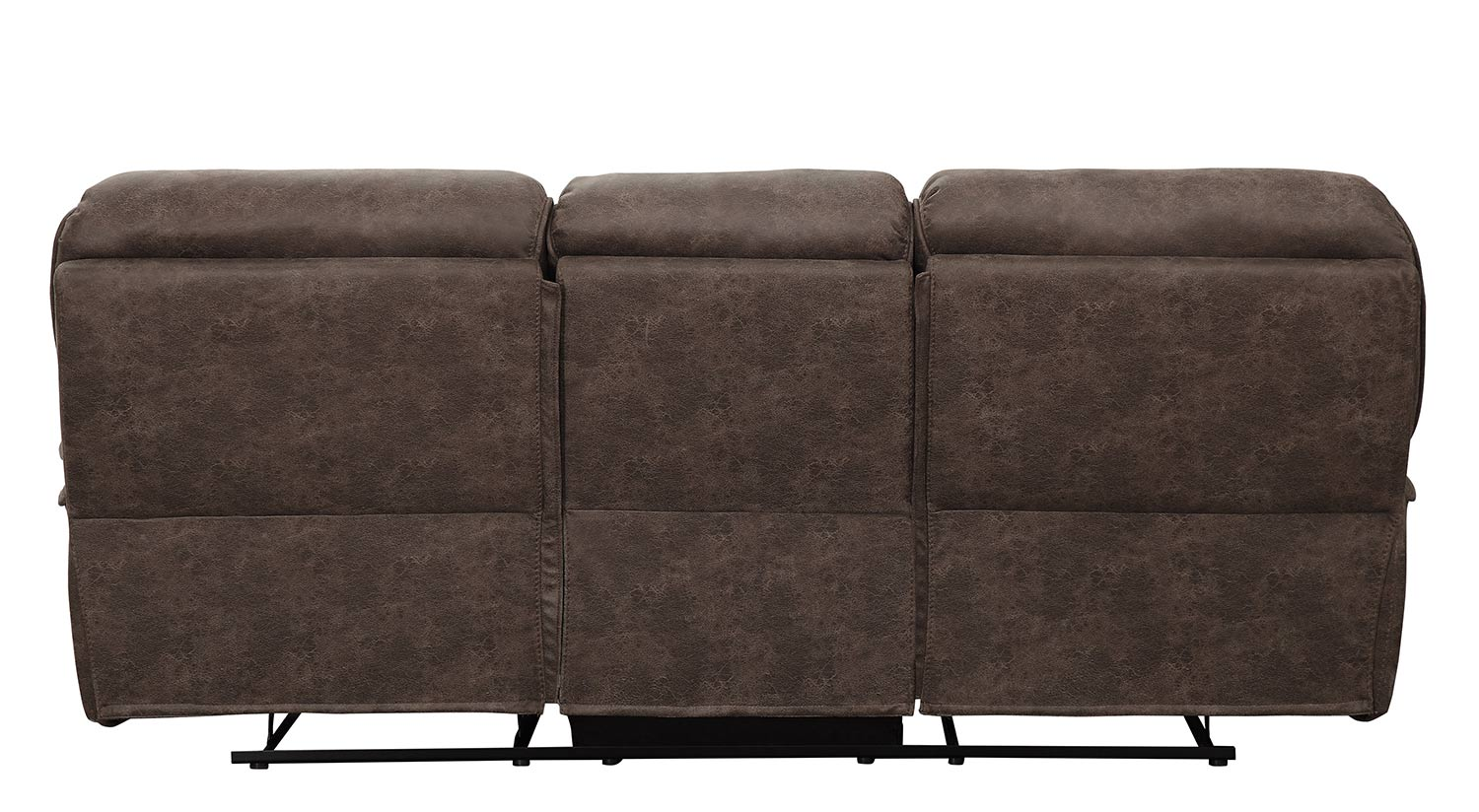 Homelegance Hadden Double Reclining Sofa - Dark Brown
