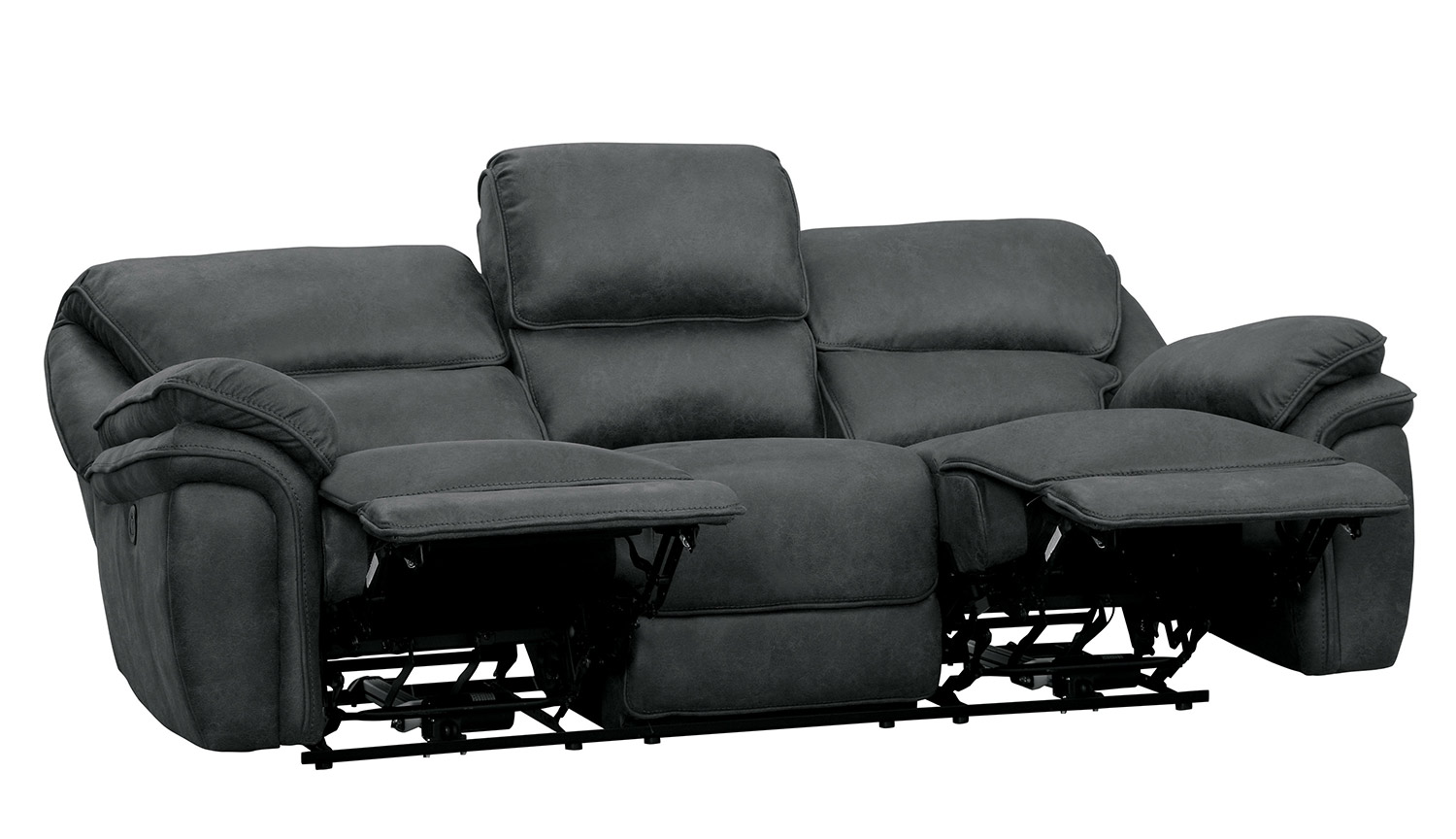 Homelegance Hadden Double Reclining Sofa - Gray