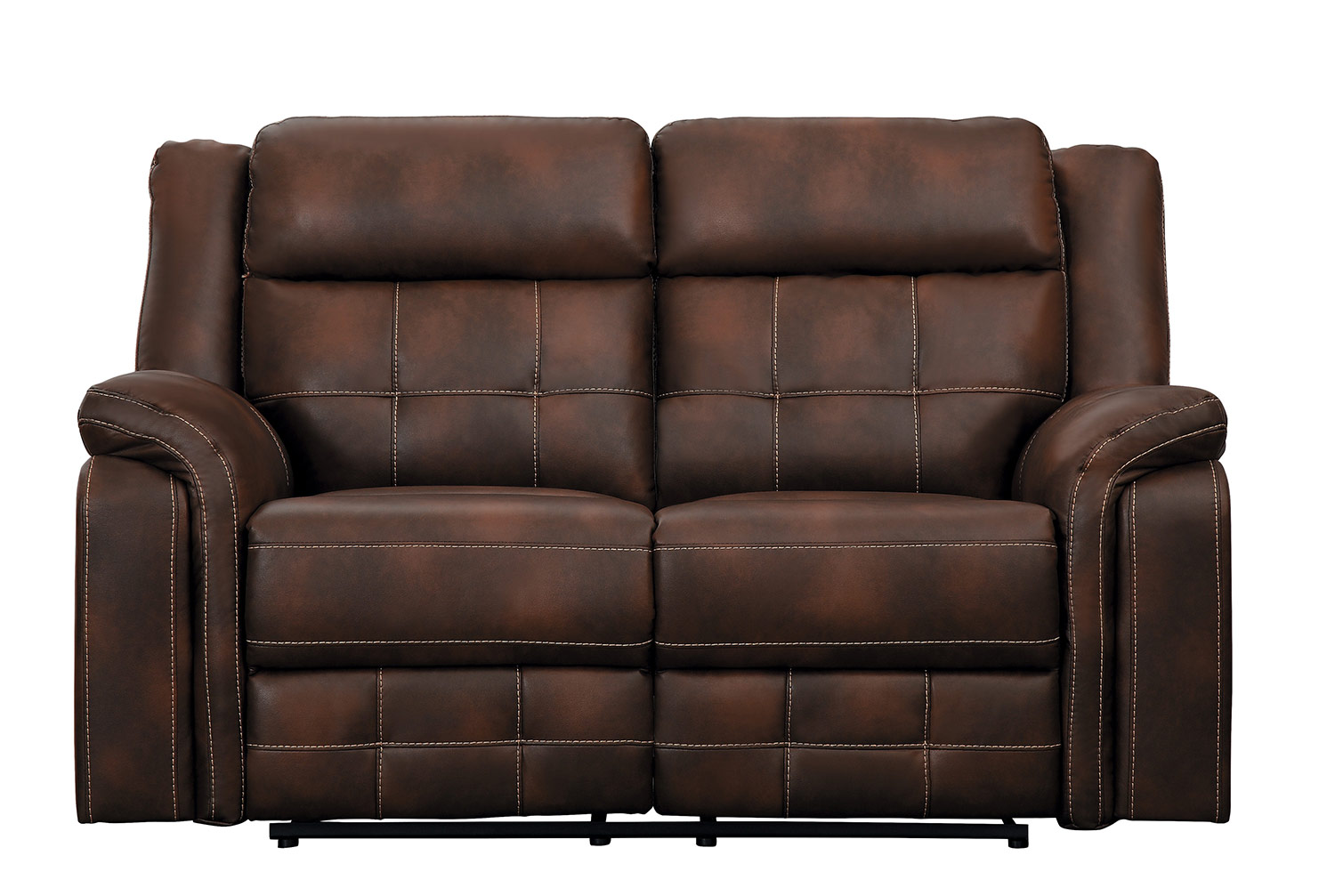 Homelegance Keridge Double Reclining Love Seat - Brown