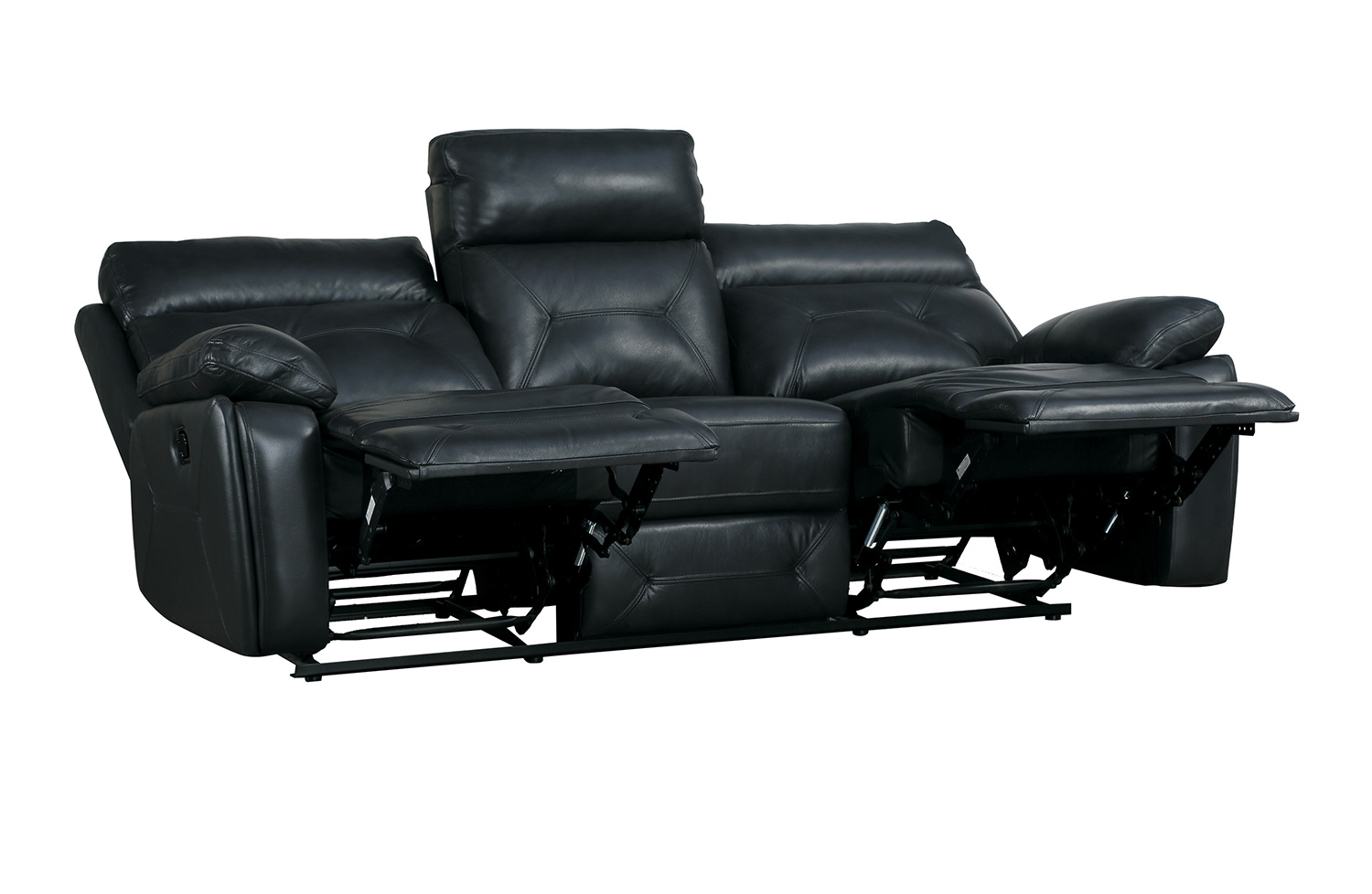 Homelegance Resonance Double Reclining Sofa - Dark Gray