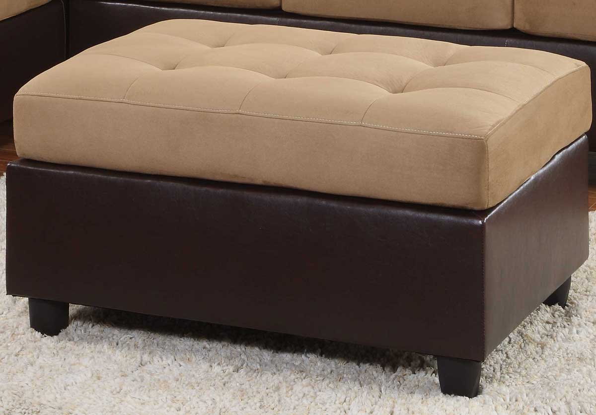 Comfort Living Ottoman Brown Finish - Homelegance