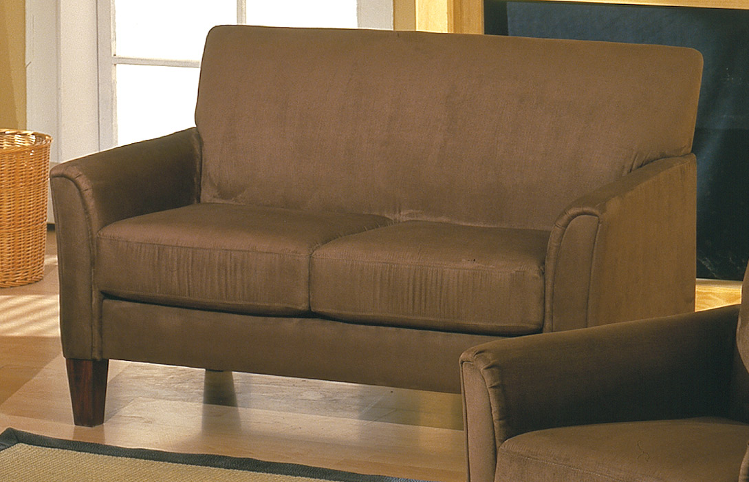 Homelegance Petite Loveseat Mocha 9913mc 2 At