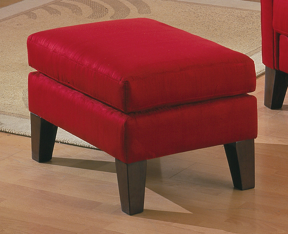 Homelegance Petite Ottoman Red 9913rd 4 At