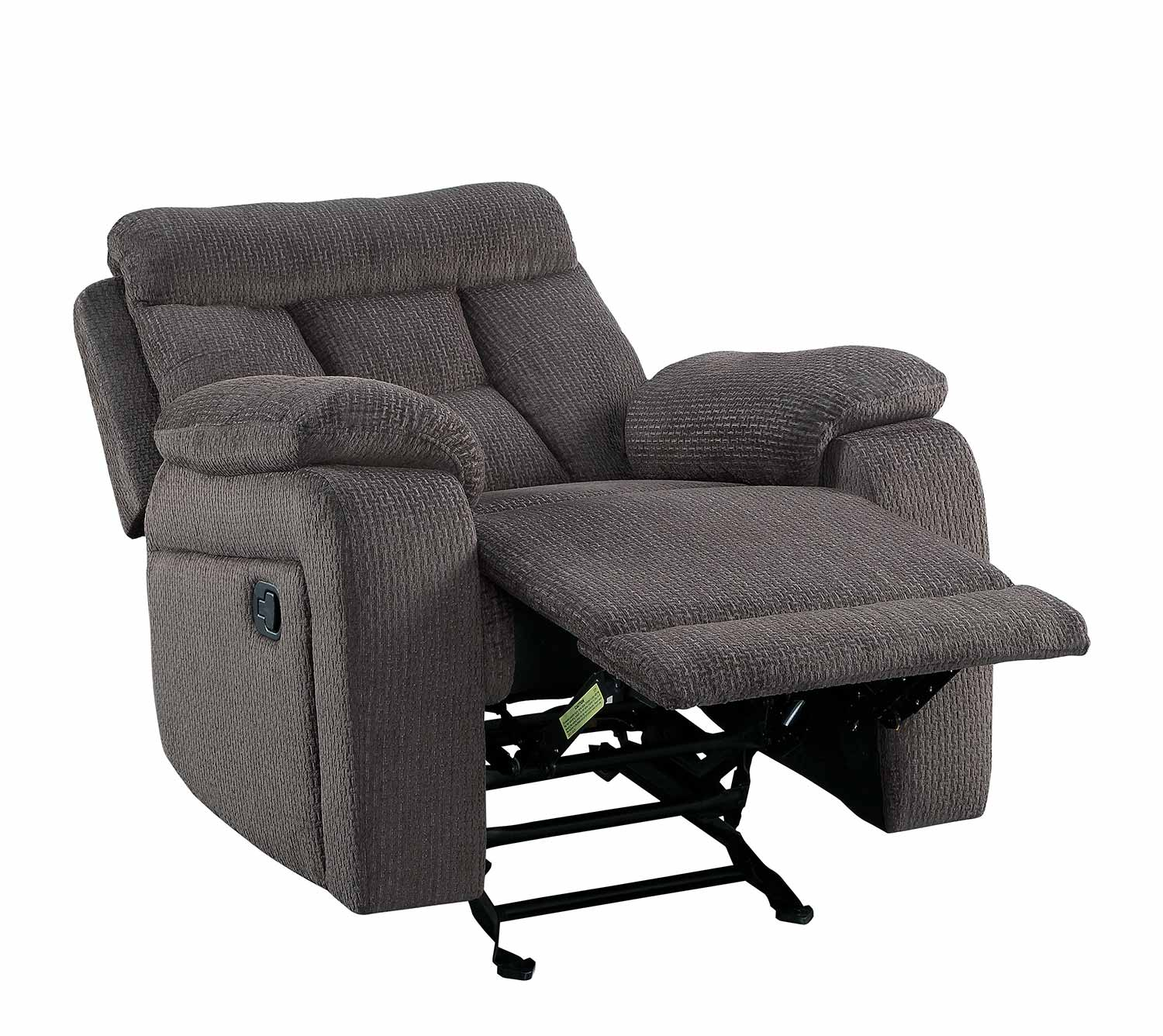 Homelegance Rosnay Glider Reclining Chair - Chocolate
