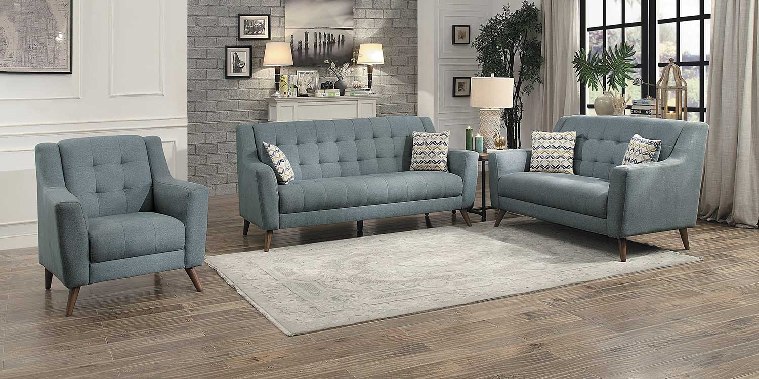 Homelegance Basenji Sofa Set - Gray